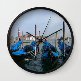 Gondola in  Venice Italy Wall Clock