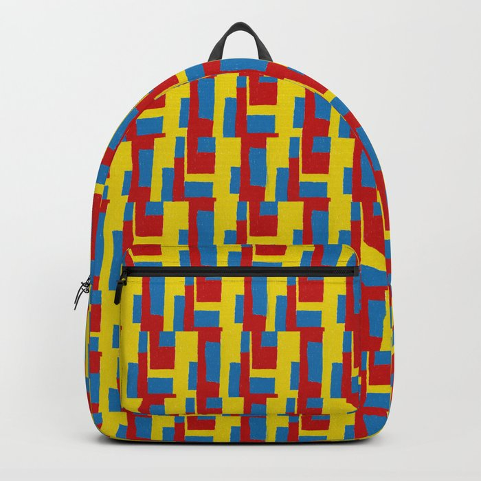 Yellow - Blue - Red Backpack
