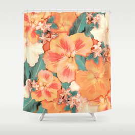 Aloha Orange Sherbet Shower Curtain