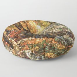 12,000pixel-500dpi - Frederick Childe Hassam - The Jewel Box, Old Lyme - Digital Remastered Edition Floor Pillow