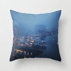 City Lights at Twilight Throw Pillow