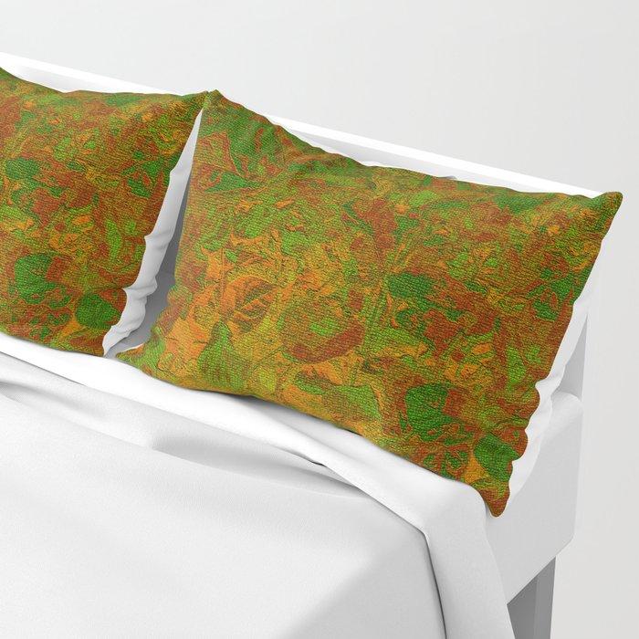 Abstract Garden Pillow Sham