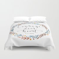 narnia Duvet Covers featuring Courage Dear Heart by IndigoEleven