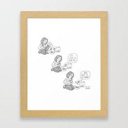 Sharing is caring - Mochi the pug Framed Art Print