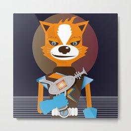 Captain Star Fox Metal Print