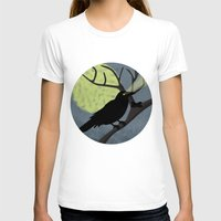 crow T-shirts featuring Crow by Nir P