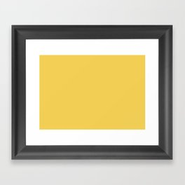Primrose Yellow | Pantone Fashion Color Spring : Summer 2017 | Solid Color Framed Art Print