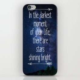 Stars Quote iPhone Skin