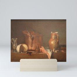 Jean-Baptiste-Simeon Chardin - Tranche de saumon Mini Art Print