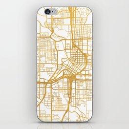 ATLANTA GEORGIA CITY STREET MAP ART iPhone Skin