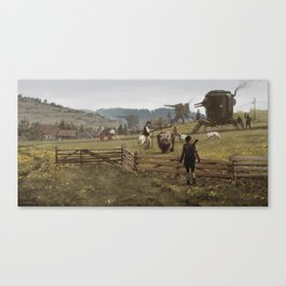 1920 - don't play with the strangers Canvas Print