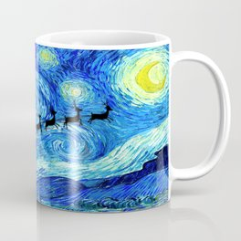 Santa Flying Starry Night Coffee Mug