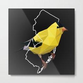 New Jersey – American Goldfinch (Black) Metal Print