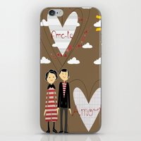 lovers iPhone & iPod Skins featuring Lovers by BruxaMagica_susycosta