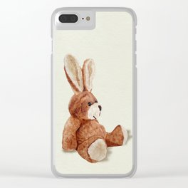 Cuddly Care Rabbit II Clear iPhone Case