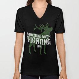 Something Worth Fighting For Unisex V-Neck
