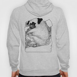 I'm Tired, You're a Lonely Pug Hoody