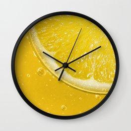 Lemon Thirst Quencher Wall Clock