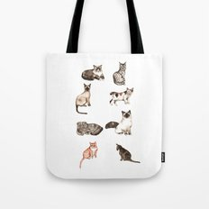 For cat lovers - watercolor of different cat breeds Tote Bag