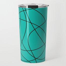 Lines Turquoise Travel Mug