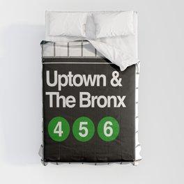 subway bronx sign Comforters