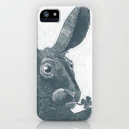 lepus cum clover iPhone Case