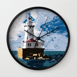 The Chicago Lighthouse Wall Clock