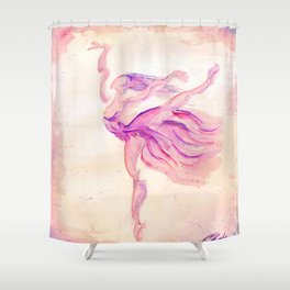 Dancer Pink Shower Curtain