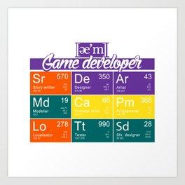 ae'm Game developer Art Print