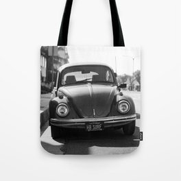 Hermosa Beach Surf Bug, Black and White Photography Print, Beach Art, South Bay Los Angeles Art Tote Bag