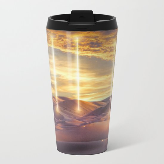 Escape through the light Metal Travel Mug