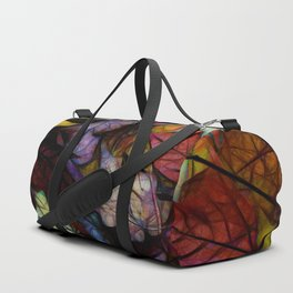 Fall leaves Abstract Duffle Bag