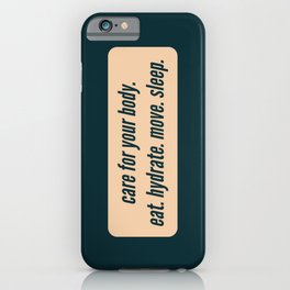 Care For Yourself iPhone Case
