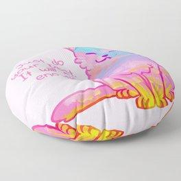"""Your Best is Enough"" Sunset Cat Floor Pillow"