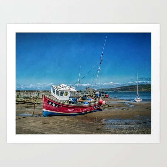 The AB2 at Newquay Art Print