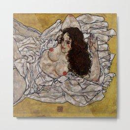 "Egon Schiele ""Reclining Woman"" Metal Print"