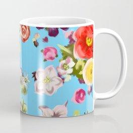 Floating Flowers Coffee Mug