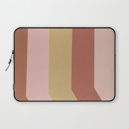 Modern Stripes in Terracotta, Rust, and Blush Laptop Sleeve