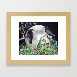 Raven Moon Magick Framed Art Print