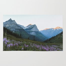 Sunrise on Going-to-the-Sun Road Rug