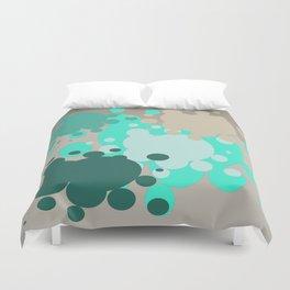 Paint splats in green Duvet Cover