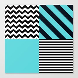Blue B&W Canvas Print