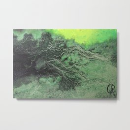 Fossil Fuels Original Mixed Media On Canvas, Abstract Painting Artwork, Contemporary Artist Photo Metal Print