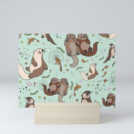 Sea Otters Mini Art Print