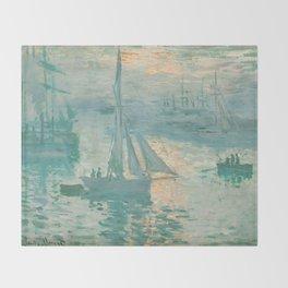 Claude Monet Marine Sunrise 1873 Throw Blanket