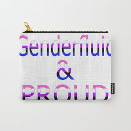 Genderfluid and Proud (white bg) Carry-All Pouch
