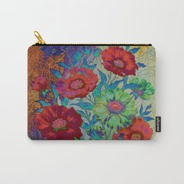 floral old tile Carry-All Pouch