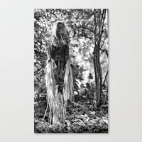 creepy Canvas Prints featuring Creepy by Artist31