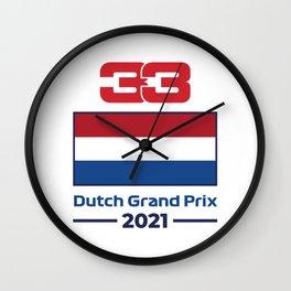 33 Ver - Dutch Grand Prix 2021 Wall Clock