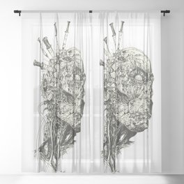 Growing Insanity Sheer Curtain